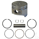 Piston and Ring Set, +.25mm, E-Z-Go 4 Cycle Gas 93-08 Fuji-Robin Only, 295cc, MCI