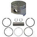Piston and Ring Set, +.50mm, E-Z-Go 4 Cycle Gas 93-08 Fuji-Robin Only, 295cc, MCI
