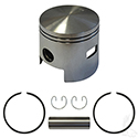 Piston and Ring Assembly, One Port +.25mm, E-Z-Go 2-cycle Gas 80-88